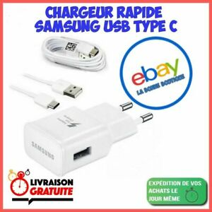 Chargeur Samsung Galaxy S8 / S8 PLUS S9 / S10 Charge Rapide + câble TYPE C