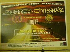Journey + Whitesnake + Thunder - Glasgow may 2013 tour concert gig poster