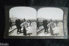 STA778 Turquie Constantinople Galata albumen Photo stereoview 1900