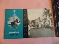 1950 Royal Rotterdam Dutch COLUMBO Willem Ruys Ocean Liner Brochure