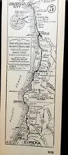 New ListingEarly 1900s Card Map #105 Eureka- Crescent City So California Automobile Club