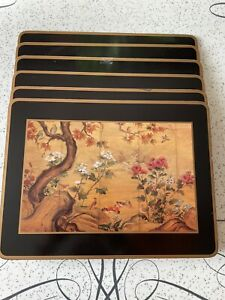 VINTAGE PIMPERNEL PLACE MATS SET 6 CHINESE SCREEN PATTERN