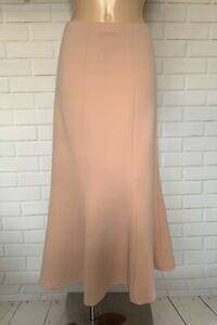 LIGHT PINK MATERIAL MAXI FULL LENGTH FISHTAIL STYLE CASUAL SKIRT SIZE 14-22