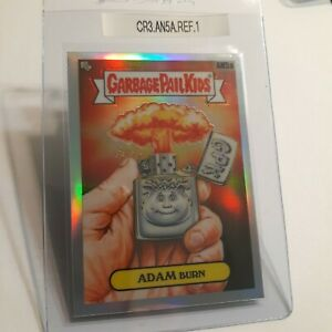 Garbage Pail Kids Adam Burn AN5a GPK 2020 Chrome Series 3 REFRACTOR card