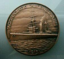 MEDALLA XXX SALON NAUTICO BARCELONA 1991 61gr. ACORAZADO ALFONSO XIII 1915