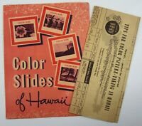 Vintage Hawaii Kodak Kodachrome Slides Film Photo Tips Souvenirs Order Form 1950