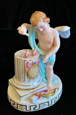 Fine Capodimonte Porcelain Meissen style Cupid Mixing Love Potions Figurine