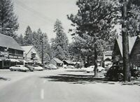 RPPC Fawnskin Big Bear Lake CA Businesses Cars Real Photo Postcard 1951