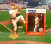1988  TODD WORRELL Starting Lineup Loose Baseball Figure & Card - CARDINALS