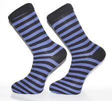Alta qualità blu scuro e nero a righe Calzini