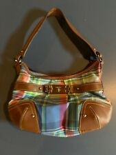 Chaps - Plaid/leather - Women's Purse - Medium Size