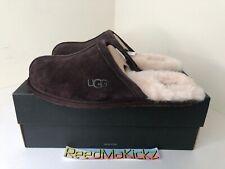 UGG Australia Mens Scuff Leather Closed Toe Slip on Espresso Size 11.0 Le6j