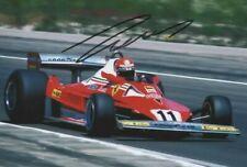 Niki Lauda Autographed Signed Photograph 1977 Ferrari team COA