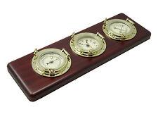 Nautical Porthole Weather Station w/ Barometer, Thermometer, Hygrometer & Clock