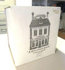 "Dept-56 A CHRISTMAS CAROL Dickens Village Series ""M Fezziwig Warehouse"" Box"