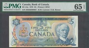Bank of Canada $5 banknote BC-53a 1979 PMG 65EPQ