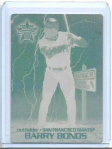 SET LOT OF 2 BARRY BONDS 2000 PACIFIC VANGUARD PRINTING PLATES SF GIANTS 1 OF 1