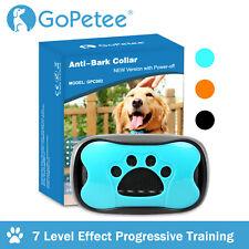 More details for 7 levels anti bark collar stop dog barking sound&vibration s/m/l adjustable^