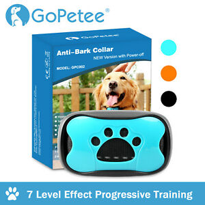 7 Levels Anti Bark Collar Stop Dog Barking Sound&Vibration S/M/L Adjustable^