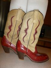Frye Women's Lizard Red Burgundy Cowgirl Western & Leather Boots Shoes