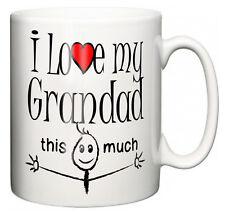 """""""i love my grandad this much"""" thé mug café grand-père grand-père cadeau"""