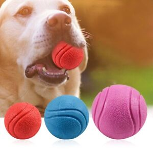 Pet Dog Training Toy Ball Indestructible Solid Rubber Ball Chew Play Bite Toy'