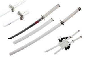 Twin G.i. Joe White Storm Shadow Ninja Katana Samurai Sword w/ Scab & Back Strap
