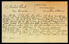 1888 Personal Letter Decatur IL Sidney IL