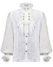 Camicie casual e maglie da uomo bianche aderente con colletto