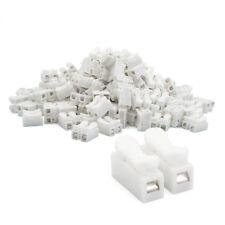 Lüsterklemmen 20x zweier weiß mit Drucköffnung Kabelverbinder Überbrückung