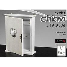Cassetta per Chiavi da Parete in Legno Armadietto Portachiavi con 6 Ganci Cassetta Portachiavi Arredo Casa 18 x 5,3 x 29,5 cm