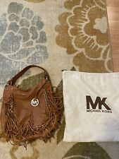 Michael Kors Woman's Leather Cognac Shoulder Bag