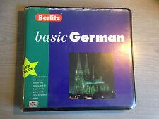 Berlitz Basic German Language Course Audio Cassette Book Set Colin Powell