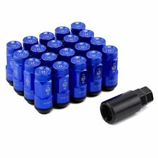 20pcs/set Two-in-one Style Blue Racing Composite M12x1.5 Car Wheel Rims Lug Nuts