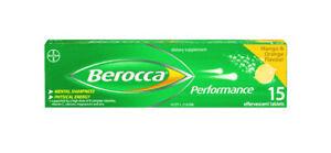 Berocca Performance Mango & Orange Effervescent 15 Tablets-12 Essential Vitamins