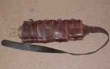 WW2 Military/Cavalry Brown Leather Ammo Belt Bandolier With 4 Pouches