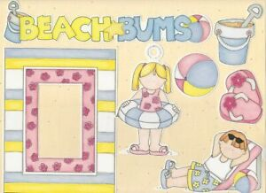 MY MIND'S EYE FRAME UPS DIE CUT SET ~ BEACH BUMS BOYS GIRLS SANDCASTLES