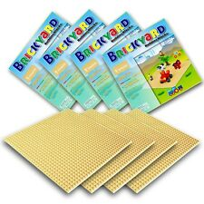 [Improved Design] 4 Sand Baseplates, 10 x 10 Large Thick Base Plates for Buil...