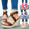 Women's Sandals Wedge Heels Ankle Cross Strap Casual Open Toe Espadrilles Shoes