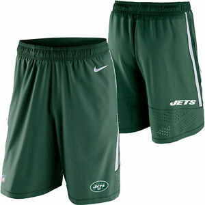 NIKE NEW YORK JETS NFL MENS SPEED VENT PERFORMANCE SHORTS SMALL