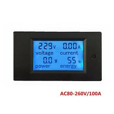 AC 80-260V/100A PZEM-061 Electronic Power Energy Meter Voltmeter Ammeter