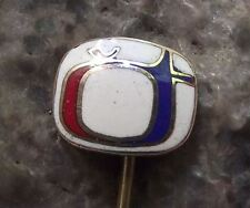 Antique Ceska Televize Czech State Television TV Broadcasting Company Pin Badge
