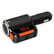 Bluetooth FM transmitter car MP3 Cigarette Lighter Socket USB charger Huawei