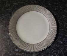 Large Tesco Porcelain Plate White With Black Stripe Border