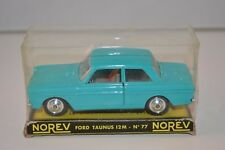 Norev 77 Ford Taunus 12M scarce colour turquoise plastique perfect mint in box