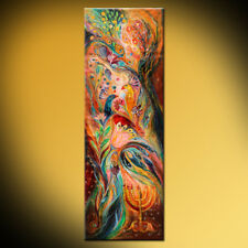 The light of Menorah: contemporary judaica art print by Elena Kotliarker
