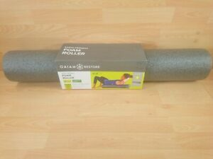 """GAIAM 36"""" Muscle Therapy Foam Roller Eco Stretch Massage Align Grey"""