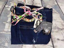 NWT $84 Baby Phat Stretch Dark Wash Denim Blue Jeans W/ Gold Belt Plus Sz 20