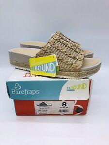 BareTraps Women's Monnie Slide Sandals - Natural US 8M
