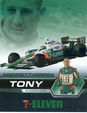 2007 Tony Kanaan 7-Eleven Honda Dallara Indy Car postcard